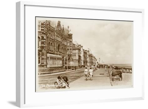 The Promenade, Deal--Framed Art Print
