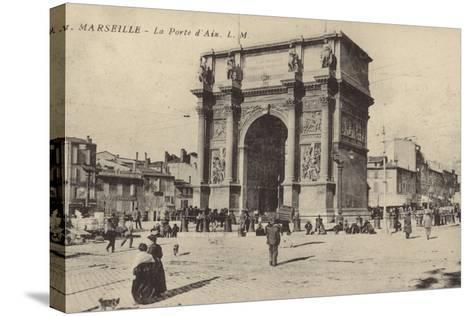 Postcard Depicting the Porte D'Aix--Stretched Canvas Print