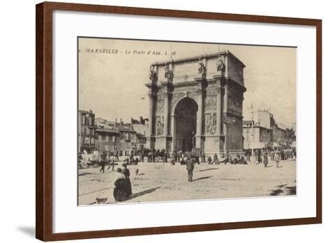 Postcard Depicting the Porte D'Aix--Framed Art Print