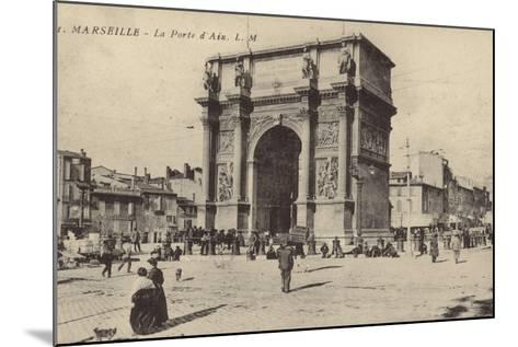 Postcard Depicting the Porte D'Aix--Mounted Photographic Print