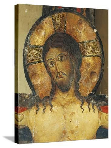 Christ's Face, Detail from Crucifix, 1187-Alberto Sotio-Stretched Canvas Print