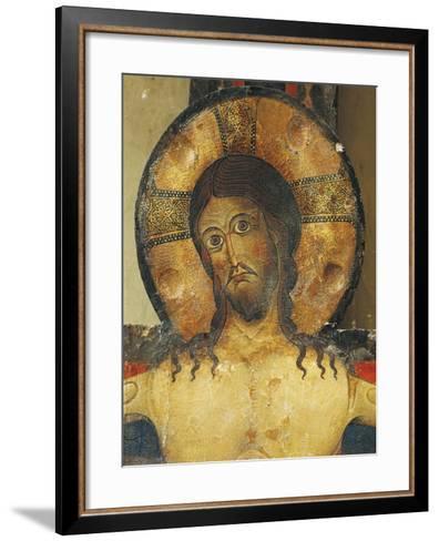 Christ's Face, Detail from Crucifix, 1187-Alberto Sotio-Framed Art Print