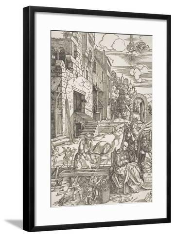 "The Holy Family in Egypt, from the Series ""The Life of the Virgin"", C.1502, Printed 1580-Albrecht D?rer-Framed Art Print"
