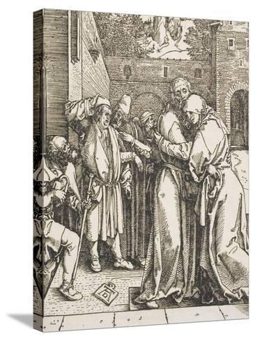"""Joachim and Saint Anne Meet at the Golden Gate, from the Series """"The Life of the Virgin"""", 1504-Albrecht D?rer-Stretched Canvas Print"""