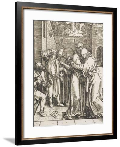 "Joachim and Saint Anne Meet at the Golden Gate, from the Series ""The Life of the Virgin"", 1504-Albrecht D?rer-Framed Art Print"