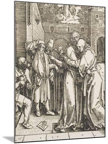 """Joachim and Saint Anne Meet at the Golden Gate, from the Series """"The Life of the Virgin"""", 1504-Albrecht D?rer-Mounted Giclee Print"""