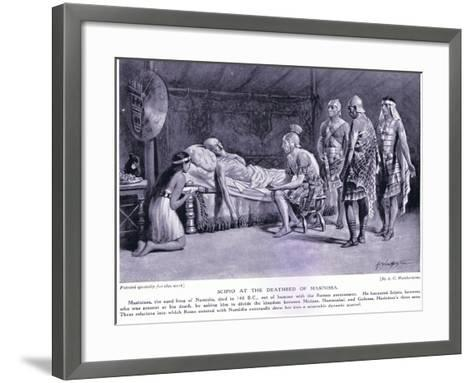 Scipio at the Deathbed of Masinissa-A.C. Weatherstone-Framed Art Print