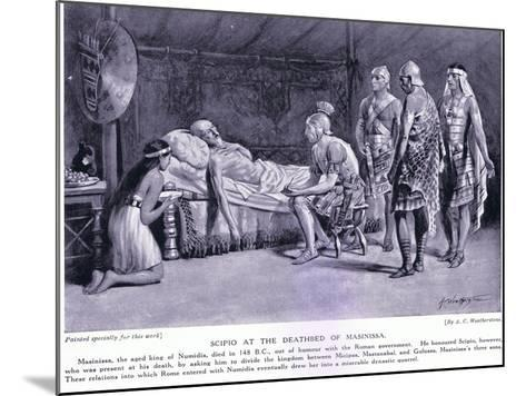 Scipio at the Deathbed of Masinissa-A.C. Weatherstone-Mounted Giclee Print