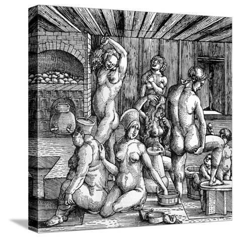 The Women's Bath-Albrecht D?rer-Stretched Canvas Print