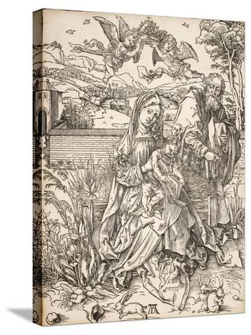 Virgin and Child with St. Joseph-Albrecht D?rer-Stretched Canvas Print