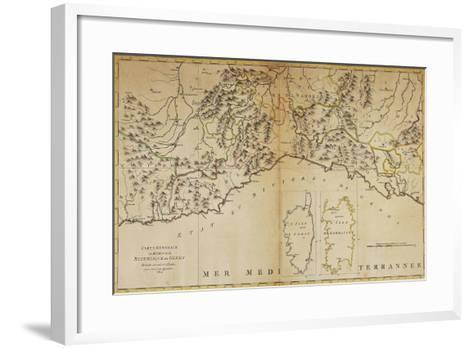 Republic of Genoa, Map, London, 1764-Andrew Dury-Framed Art Print