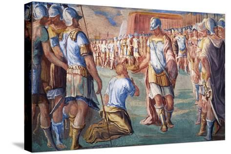 Hannibal Victorious over Roman Army-Antonio Circignani-Stretched Canvas Print