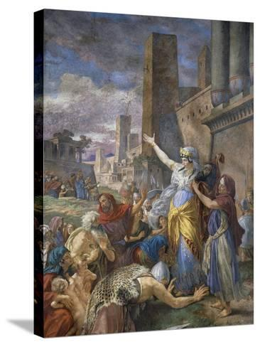 Judith Showing the Head of Holofernes to the Jewish People, 1876-Cesare Mariani-Stretched Canvas Print