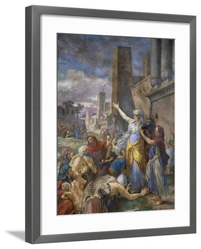 Judith Showing the Head of Holofernes to the Jewish People, 1876-Cesare Mariani-Framed Art Print