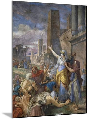 Judith Showing the Head of Holofernes to the Jewish People, 1876-Cesare Mariani-Mounted Giclee Print