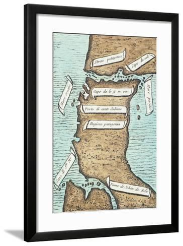 Patagonia and Tierra Del Fuego, Strait Later Take Navigator's Name-Antonio Pigafetta-Framed Art Print