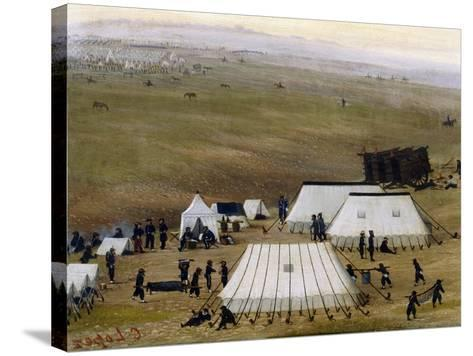 Argentine Camp During War Against Paraguay-Candido Lopez-Stretched Canvas Print
