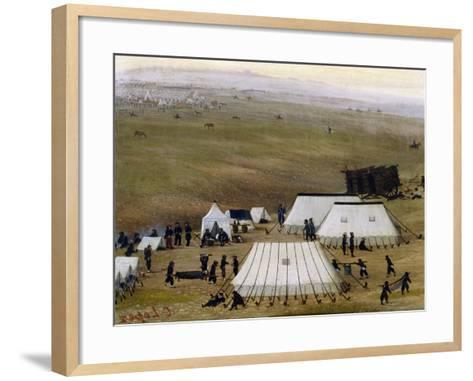 Argentine Camp During War Against Paraguay-Candido Lopez-Framed Art Print