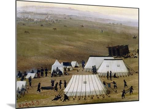 Argentine Camp During War Against Paraguay-Candido Lopez-Mounted Giclee Print