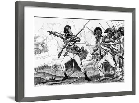 The Volunteers in Sabots at the Battle of Valmy-Caran D'Ache-Framed Art Print