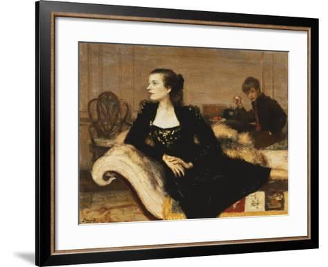 Camilla and Mark Sykes, 1947-Anthony Devas-Framed Art Print