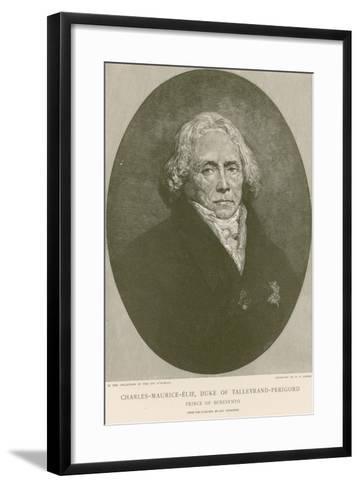 Charles Maurice De Talleyrand-Perigord-Ary Scheffer-Framed Art Print