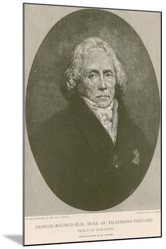Charles Maurice De Talleyrand-Perigord-Ary Scheffer-Mounted Giclee Print