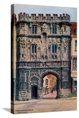 Christ Church Gate, Canterbury-Alfred Robert Quinton-Stretched Canvas Print