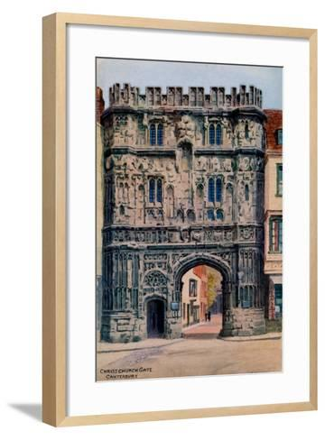 Christ Church Gate, Canterbury-Alfred Robert Quinton-Framed Art Print