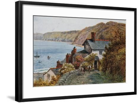 Clovelly Bay-Alfred Robert Quinton-Framed Art Print
