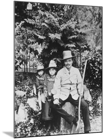 Self Portrait of August Strindberg, with His Children in the Country, 1886-August Johan Strindberg-Mounted Photographic Print