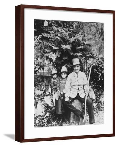 Self Portrait of August Strindberg, with His Children in the Country, 1886-August Johan Strindberg-Framed Art Print
