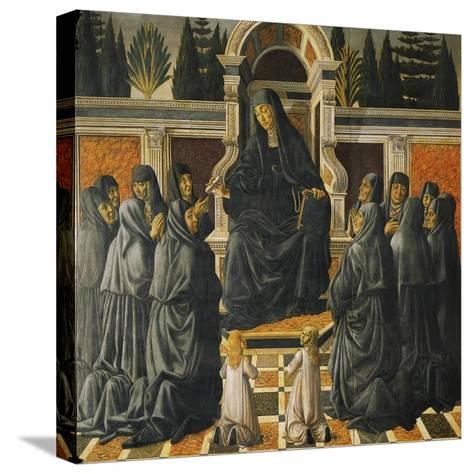 Saint Monica-Andrea del Verrocchio-Stretched Canvas Print