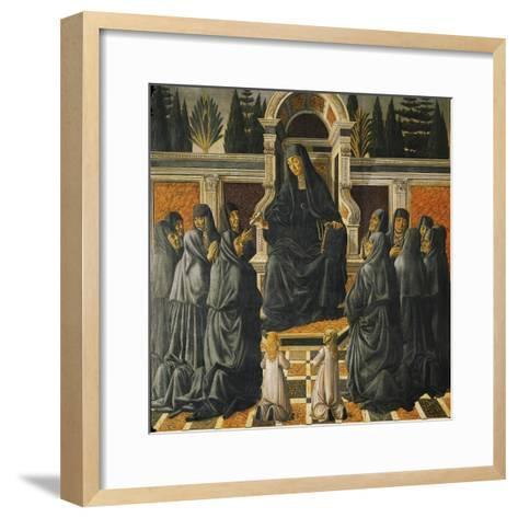 Saint Monica-Andrea del Verrocchio-Framed Art Print