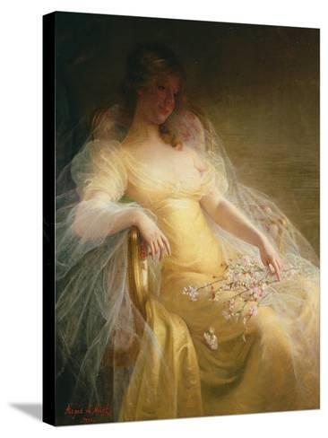 Portrait of a Woman-Arpad Migl-Stretched Canvas Print