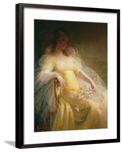Portrait of a Woman-Arpad Migl-Framed Art Print