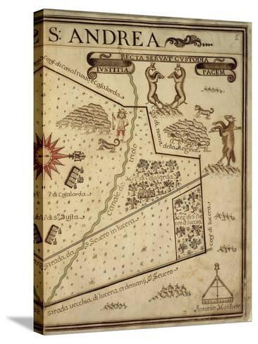 Map of Sant Andrea, Italy, from the Atlas Atlante Delle Locazioni, 1687-1697-Antonio and Nunzio Michele-Stretched Canvas Print