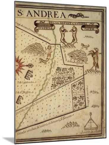 Map of Sant Andrea, Italy, from the Atlas Atlante Delle Locazioni, 1687-1697-Antonio and Nunzio Michele-Mounted Giclee Print