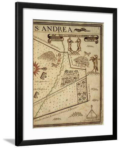 Map of Sant Andrea, Italy, from the Atlas Atlante Delle Locazioni, 1687-1697-Antonio and Nunzio Michele-Framed Art Print