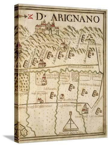 Map of Arignano, Italy, from the Atlas Atlante Delle Locazioni, 1687-1697-Antonio and Nunzio Michele-Stretched Canvas Print