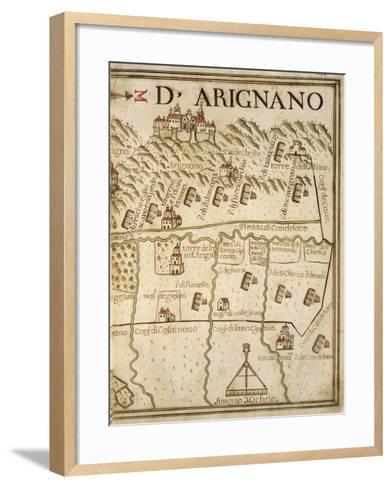 Map of Arignano, Italy, from the Atlas Atlante Delle Locazioni, 1687-1697-Antonio and Nunzio Michele-Framed Art Print
