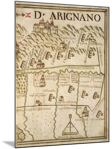 Map of Arignano, Italy, from the Atlas Atlante Delle Locazioni, 1687-1697-Antonio and Nunzio Michele-Mounted Giclee Print