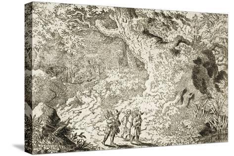 The Thick Forest-Allart van Everdingen-Stretched Canvas Print