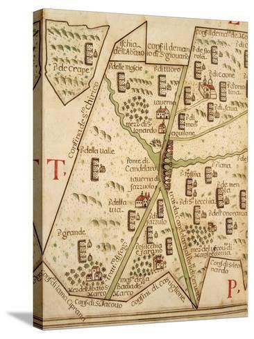 Map of Candelaro, Italy, from the Atlas Atlante Delle Locazioni, 1687-1697-Antonio and Nunzio Michele-Stretched Canvas Print