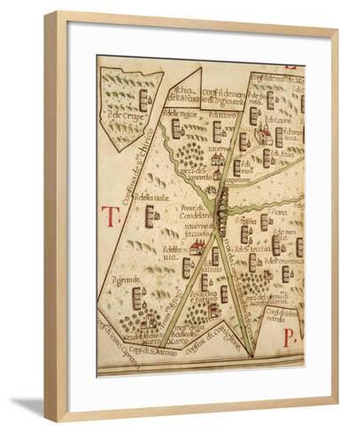 Map of Candelaro, Italy, from the Atlas Atlante Delle Locazioni, 1687-1697-Antonio and Nunzio Michele-Framed Art Print