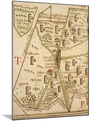 Map of Candelaro, Italy, from the Atlas Atlante Delle Locazioni, 1687-1697-Antonio and Nunzio Michele-Mounted Giclee Print