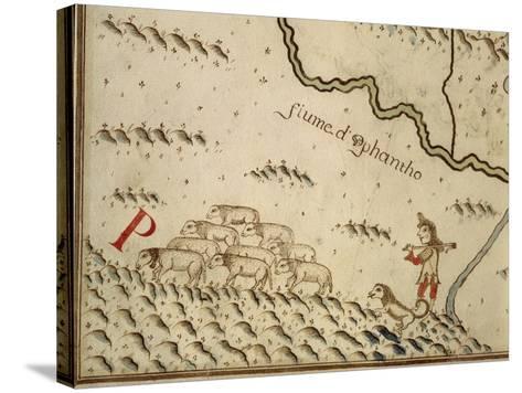 Map of Salzola, Italy, from the Atlas Atlante Delle Locazioni, 1687-1697-Antonio and Nunzio Michele-Stretched Canvas Print