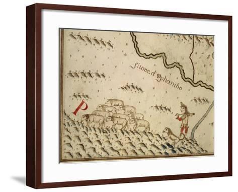 Map of Salzola, Italy, from the Atlas Atlante Delle Locazioni, 1687-1697-Antonio and Nunzio Michele-Framed Art Print