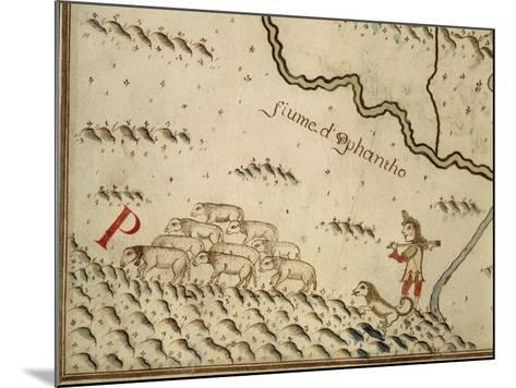 Map of Salzola, Italy, from the Atlas Atlante Delle Locazioni, 1687-1697-Antonio and Nunzio Michele-Mounted Giclee Print