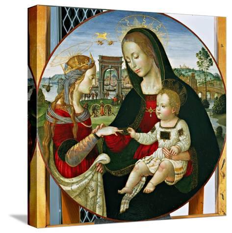 The Mystic Marriage of St. Catherine, 1502-03-Baldassarre Peruzzi-Stretched Canvas Print